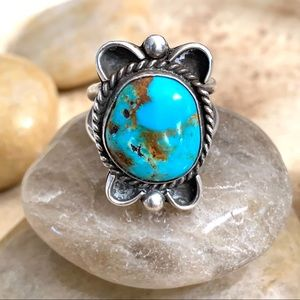 Gorgeous Vintage Native American Turquoise Ring